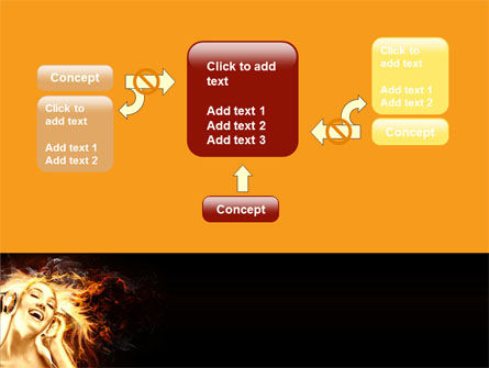 Flame Girl PowerPoint Template Slide 13