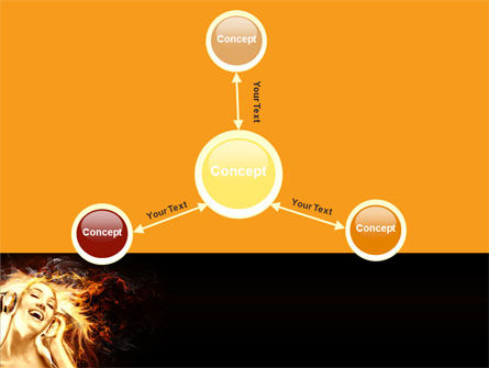 Flame Girl PowerPoint Template Slide 14