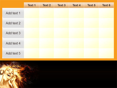 Flame Girl PowerPoint Template Slide 15