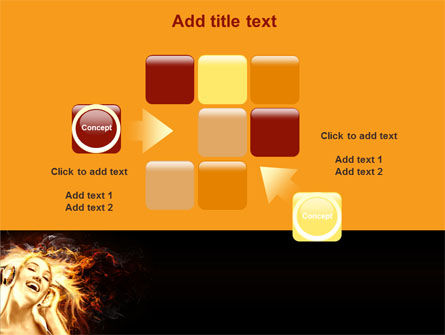 Flame Girl PowerPoint Template Slide 16