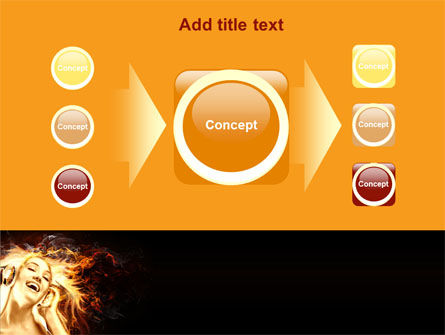 Flame Girl PowerPoint Template Slide 17