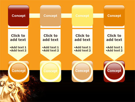 Flame Girl PowerPoint Template Slide 18