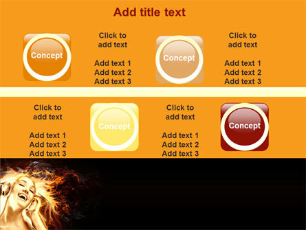 Flame Girl PowerPoint Template Slide 19