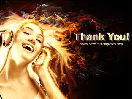 Flame Girl PowerPoint Template Slide 20