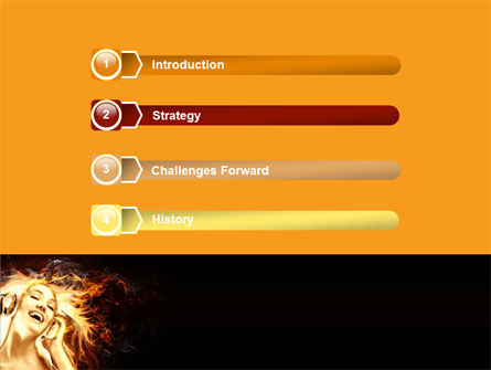 Flame Girl PowerPoint Template Slide 3