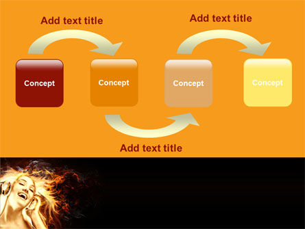 Flame Girl PowerPoint Template Slide 4