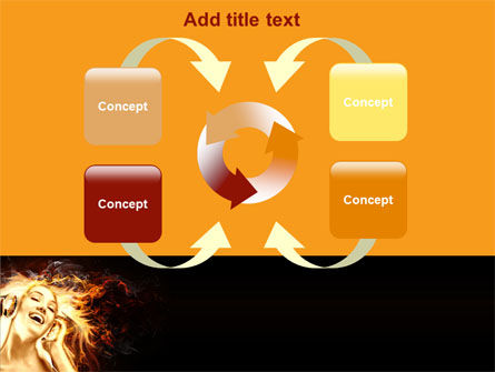 Flame Girl PowerPoint Template Slide 6