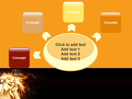 Flame Girl PowerPoint Template Slide 7
