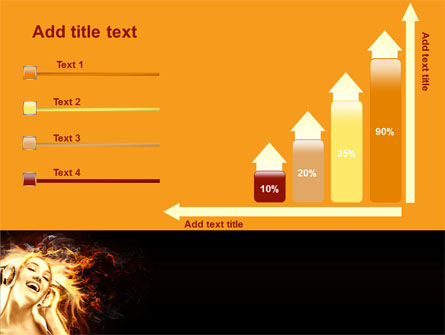 Flame Girl PowerPoint Template Slide 8