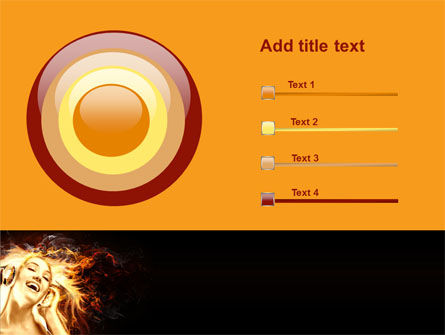 Flame Girl PowerPoint Template Slide 9