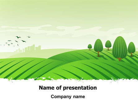 Green Hills PowerPoint Template
