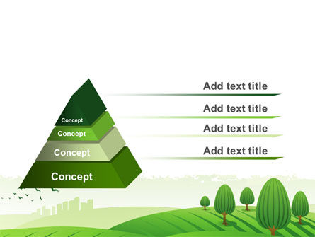 Green Hills PowerPoint Template Slide 12