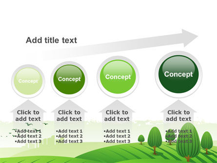 Green Hills PowerPoint Template Slide 13