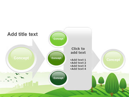 Green Hills PowerPoint Template Slide 17