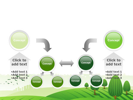 Green Hills PowerPoint Template Slide 19