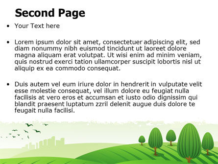 Green Hills PowerPoint Template Slide 2