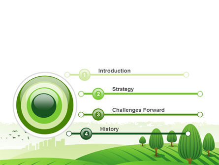 Green Hills PowerPoint Template Slide 3