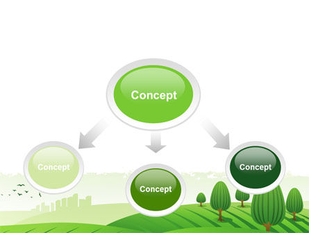 Green Hills PowerPoint Template Slide 4