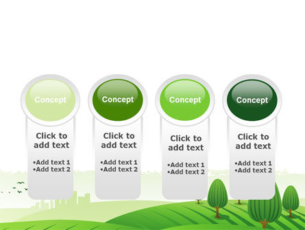 Green Hills PowerPoint Template Slide 5