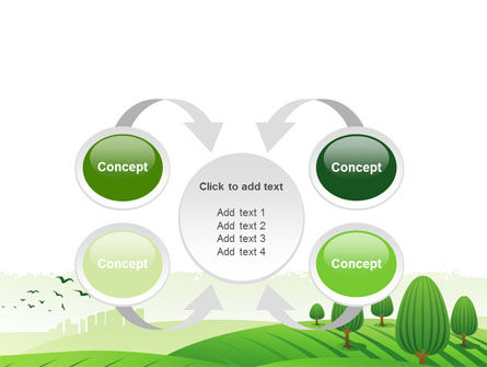 Green Hills PowerPoint Template Slide 6