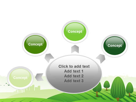 Green Hills PowerPoint Template Slide 7