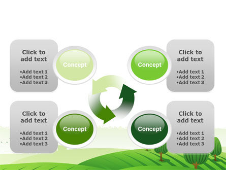 Green Hills PowerPoint Template Slide 9