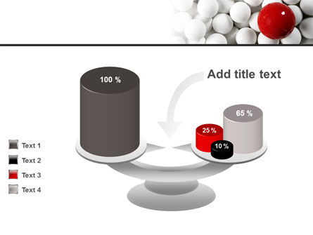 Red Ball Of White PowerPoint Template Slide 10