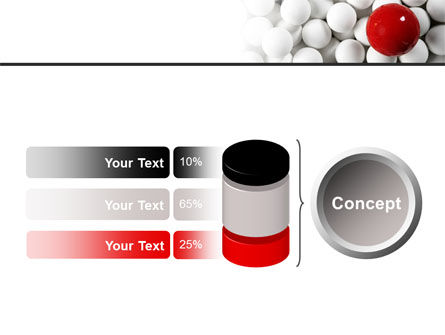 Red Ball Of White PowerPoint Template Slide 11