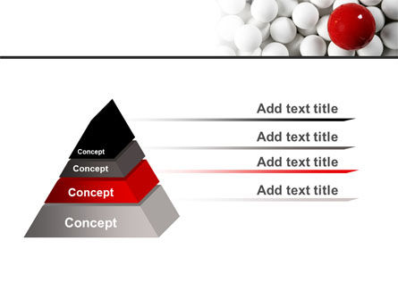 Red Ball Of White PowerPoint Template Slide 12
