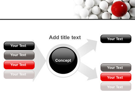 Red Ball Of White PowerPoint Template Slide 14