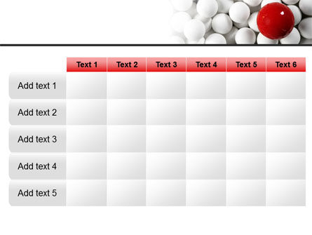 Red Ball Of White PowerPoint Template Slide 15