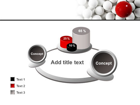 Red Ball Of White PowerPoint Template Slide 16
