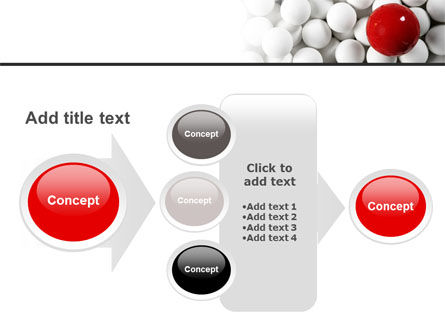 Red Ball Of White PowerPoint Template Slide 17