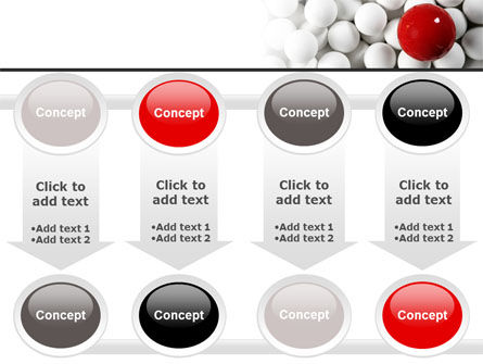 Red Ball Of White PowerPoint Template Slide 18
