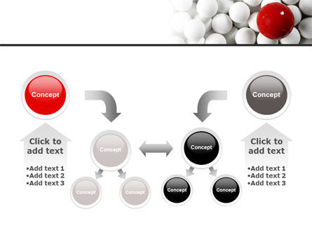 Red Ball Of White PowerPoint Template Slide 19