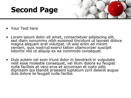 Red Ball Of White PowerPoint Template Slide 2