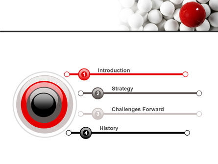Red Ball Of White PowerPoint Template Slide 3