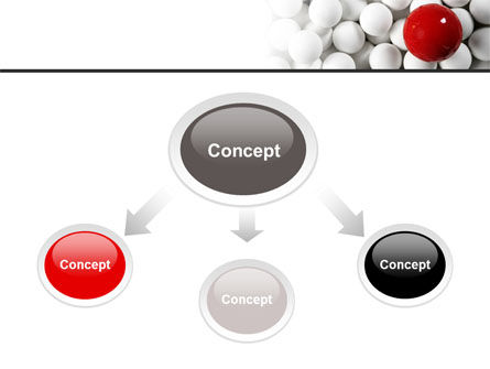 Red Ball Of White PowerPoint Template Slide 4