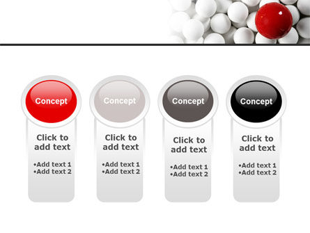 Red Ball Of White PowerPoint Template Slide 5