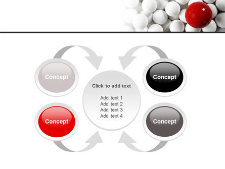 Red Ball Of White PowerPoint Template Slide 6