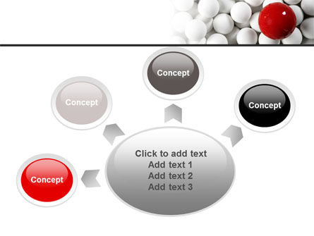 Red Ball Of White PowerPoint Template Slide 7
