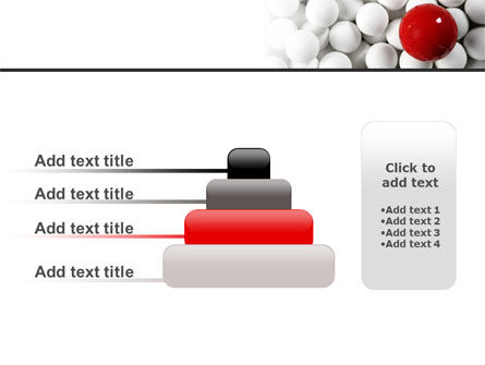 Red Ball Of White PowerPoint Template Slide 8