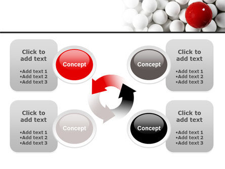Red Ball Of White PowerPoint Template Slide 9