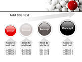 Red Ball Of White PowerPoint Template#13