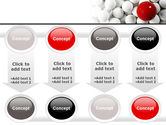 Red Ball Of White PowerPoint Template#18