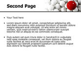 Red Ball Of White PowerPoint Template#2