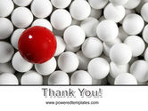 Red Ball Of White PowerPoint Template#20