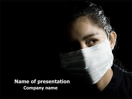 Sanitary Mask PowerPoint Template, 07814, Medical — PoweredTemplate.com