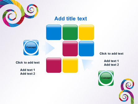 Color Curls PowerPoint Template Slide 16