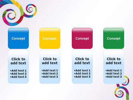 Color Curls PowerPoint Template Slide 5